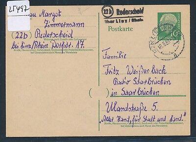 Rhein Realistisch 25497 Landpost L2 22b Rederscheid über Linz Ga 1958 Auf Dem Internationalen Markt Hohes Ansehen GenießEn