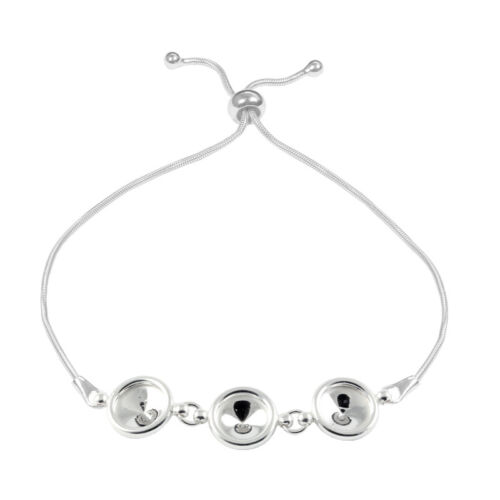Argent sterling réglable bracelet base pour collage 1122 Rivoli SS39 cristaux