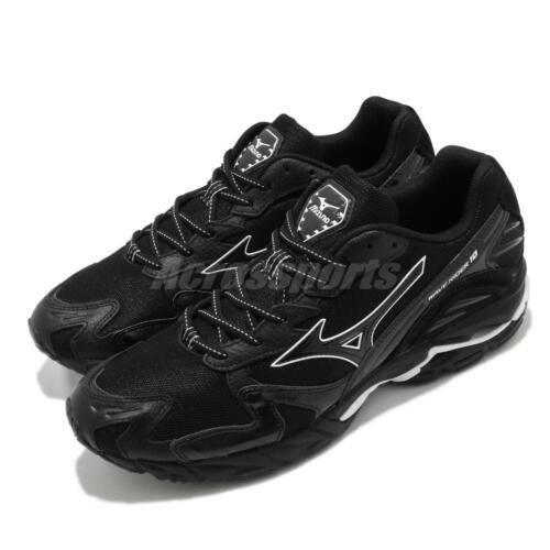 Mizuno Wave Rider 10 Black White Men Running Shoes Sneakers Trainers D1GA2029-09
