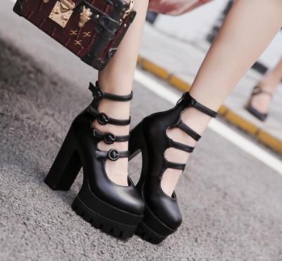 Womens High Wedge Heel Platform Sport Sandals Gladiator Slingback Shoes Jd/_uk