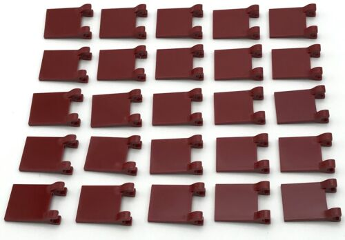 Lego 25 New Dark Red Castle Flags 2 x 2 Square Pieces Parts
