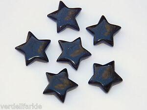 1 BLUESTONE STAR shaped Gemstone 5 ELEMENTS Crystal Stone FREE POUCH FN