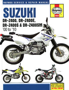 haynes manual 2933 suzuki drz400 drz400e drz400s drz400sm 00 rh ebay co uk suzuki drz 400 service manual pdf suzuki drz400e service manual