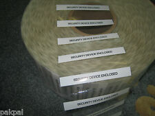 """2000 Security Device Enclosed Label Self Adhesive 4"""" X1 5/16"""""""