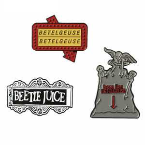 3PCS-Beetlejuice-Brooch-Comedy-Horror-Gothic-Movie-Badges-Soft-Enamel-Pins-Gifts