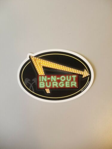 Brand New 2018 In N Out Burger Neon Lights Bumper Sticker
