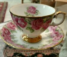ROSE and GOLD JAPAN SHAFFORD TEA CUP and SAUCER heavily decorated 4 available.
