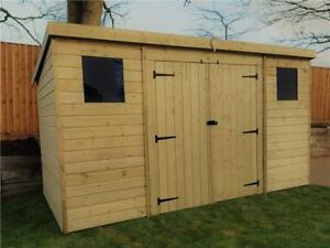 Superb Image Is Loading WOODEN GARDEN SHED 10X4 12X4 14X4 PRESSURE TREATED