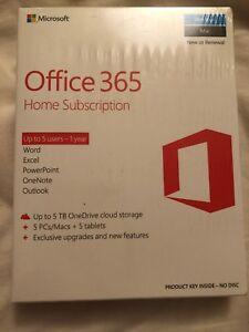 Microsoft Office 365 Home Premium, 5 Pc/mac + Tablette Nouvelle Et Scellée-afficher Le Titre D'origine