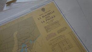 1984 FRANCE WEST COAST LA ROCHELLE LA PALLICE MARINE NAUTICAL CHART MAP.