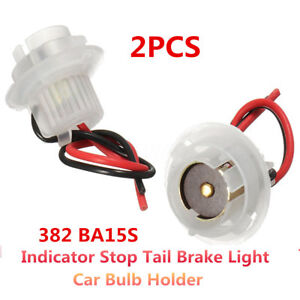 2x-BA15SBH-Car-Bulb-Holder-Socket-Connector-Indicator-Stop-Tail-Brake-Light-New