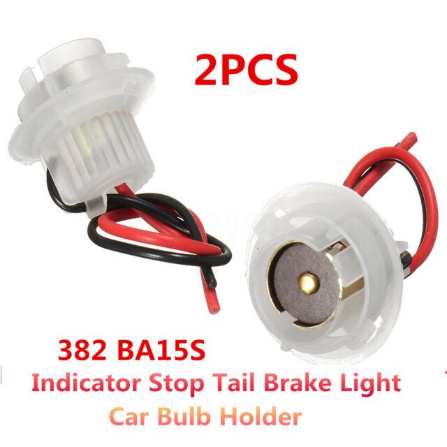 Car Bulb Holder CONNECTOR Indicator Stop Tail Brake Light 382 BA15S