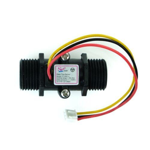 """Durchflusssensor Volumenstromsensor für Wasserleitungen 1//2/"""" Gewinde Arduino"""