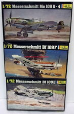 Heller~229,232,234~1:72~Me.109K-4,Bf.109F,109E~WW2 German Fighter Plane~Kits X 3