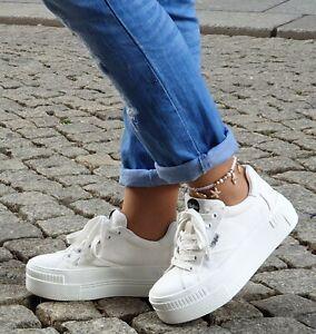 Buffalo Schuhe Paired  weiß 16304741 Damen Plateau Sneaker Vegan Textil