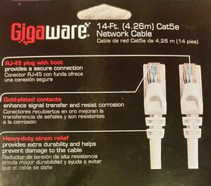 Gigaware Cat5e Network Cable Lot Networking Cables & Adapters Ethernet Cables (rj-45/8p8c)