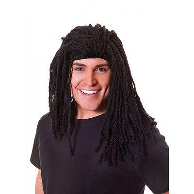 Long Jamaican Rasta Man Dreadlock Black Wig Fancy Dress Dreads