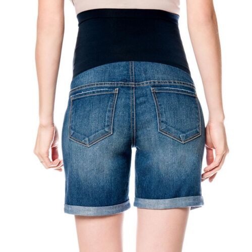 Oh Baby by Motherhood Secret Fit Belly Distressed Maternity Jean Denim Shorts