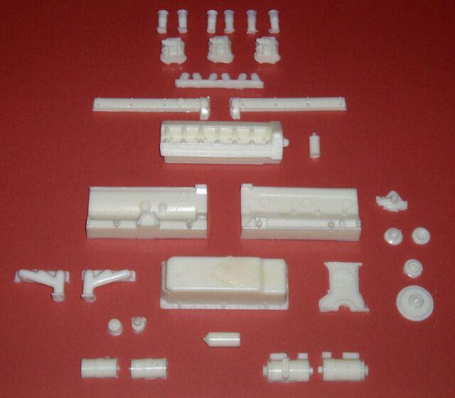 Motor De Resina Completo Kit Para 1/8 Escala Revell o DeAgosti E Type Jaguar Coche Kit