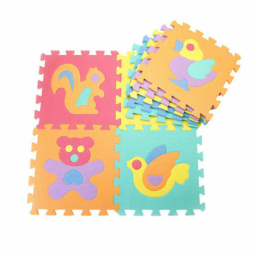 10pcs Baby Soft EVA Foam Floor Play Mats Alphabet Numbers Puzzle DIY Toys Set