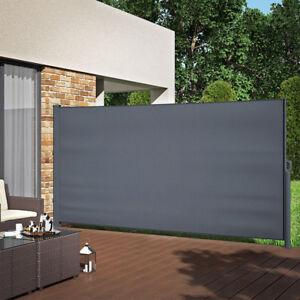 ALU-Seitenmarkise-Sichtschutz-180x350cm-Sonnenschutz-Seitenrollo-Markise-280g-m