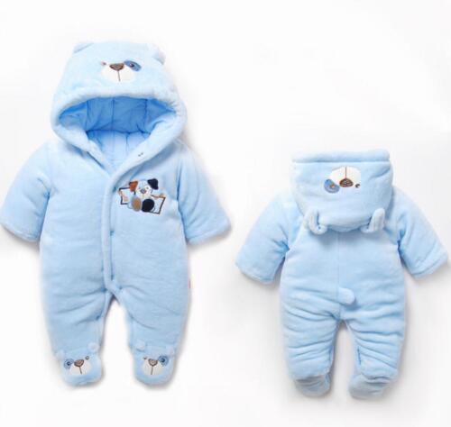 Baby clothes newborn infant girls boys winter fleece warm padded thick bodysuit