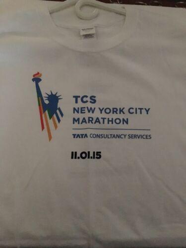 2015 TCS NYC New York City Marathon Running Men's Sz XL Short Sleeve New!