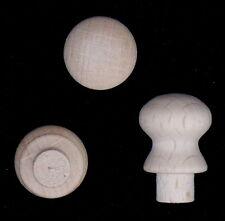 10er Pack Klein 14mm Durchmesser ø Buche Knöpfe mit Zapfen Holzgriffen Zapfen