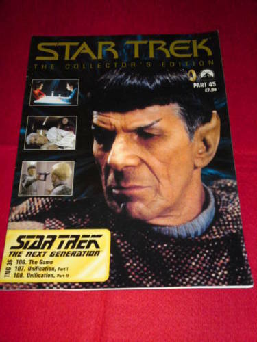 Part 45 STAR TREK COLLECTORS EDITION THE NEXT GENERATION