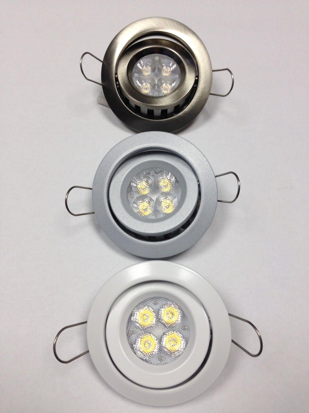 Spotlicht receipt Round Swivel LED Warm 3000 ° K 5w 60 ° 350ma Weiß grau