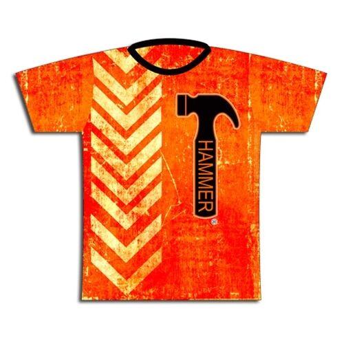 Hammer orange Thread Dye-Sublimated Mens Bowling Shirt Jersey