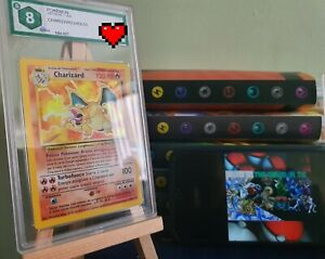Pokemon Card: Charizard - Set Base - ITA 🇮🇹 - GRAAD 8 / NO PSA - BGS