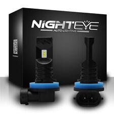 Nighteye H11 H8 H9 160W LED Fog Light Bulbs Car Driving Lamp DRL 6500K HID White