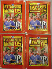 MERLIN'S F.A. PREMIER LEAGUE 05 OFFICIAL STICKERS COLLECTION 4 Unopened packets