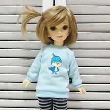 bjd yosd 1/6 doll clothes, Top t-shirts bird blue