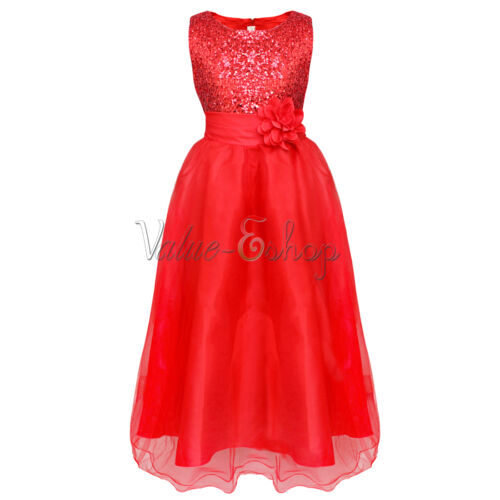 Flower Girl Princess Dress Kids Party Pageant Wedding Bridesmaid Prom Ball Gown