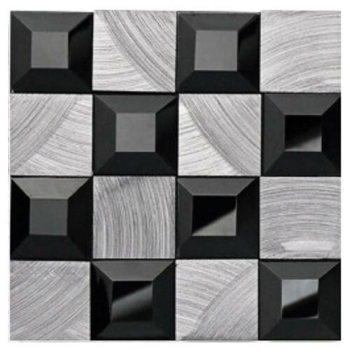 3D Mosaik Wandaufkleber Fliesen Bad Küche Dekor Wasserdicht Selbstklebend Neu