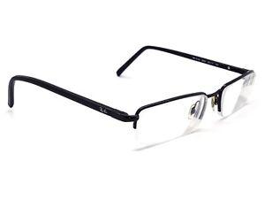 9f0295770c9 Ray Ban Eyeglasses RB 6102 2509 Black Half Rim Frame 53  17 140