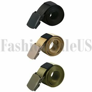 Fashion-Men-039-s-Nylon-Canvas-Tactical-Military-Combat-Belt-Buckle-Strap-Waistband
