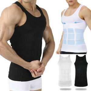 Men-039-s-Top-Slimming-Shirt-Body-Shaper-Vest-Compression-Undershirt-Shapewear-Tank