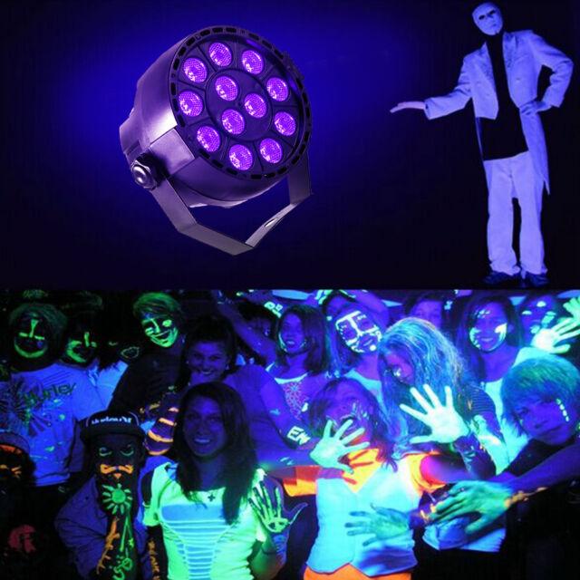 1 PCS 12x 3W LED UV Black Light DMX Par Can Stage Lighting Party Xmas Halloween