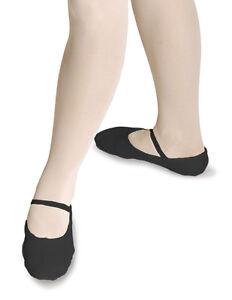 Nuevo Chicas/Niños Negro Pre-cosidas Elástico Zapatos De Ballet-Pre-cosidas todas las tallas RV