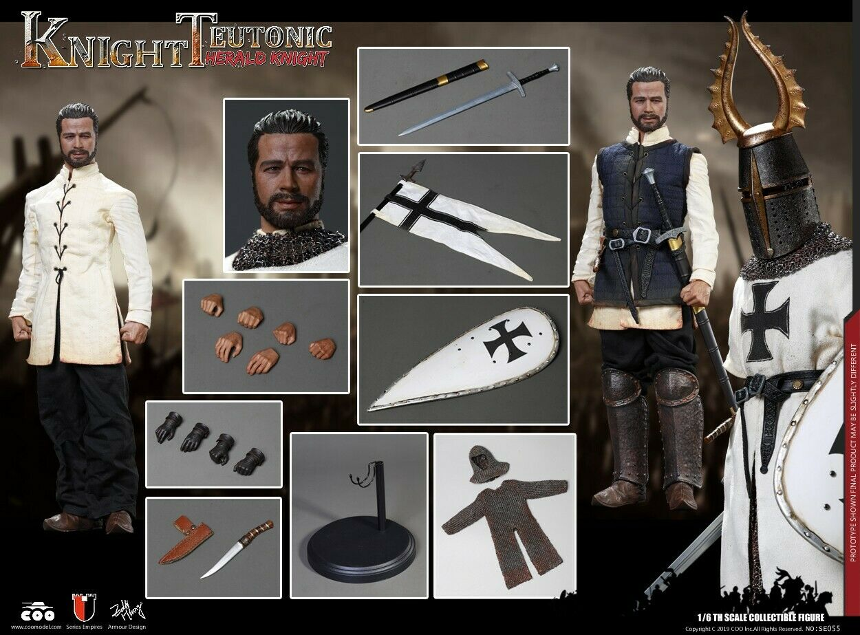 COOMODEL SE055 1 6 Herald of Knights Teutonic Diecast Alloy Armor Action Figure