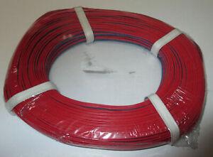 (1 M = 0,279 Euros €) Jumelle Lacet Rouge/bleu 50 M -- Neuf --