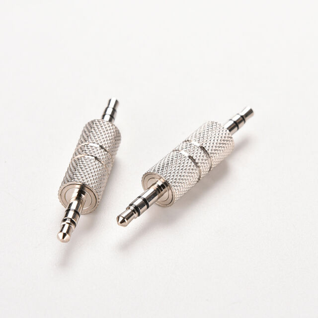 2X 3.5mm Stereo Male to Male Audio Headphone Adapter Jack Coupler Connector he