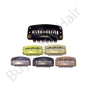 30-x-2-8-cm-Extensions-de-cheveux-Retour-au-naturel-Tissage-Trame-clips-avec