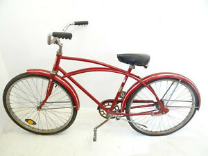 Vintage Used Old Retro Rollfast Roadmaster Red White Street Bicycle
