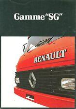 1981 RENAULT SG-SERIES TRUCKS BROCHURE (FRENCH)