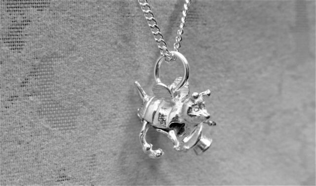 "Sterling Silver (925)  Solid 3D Charm ""Bumble Bee"""