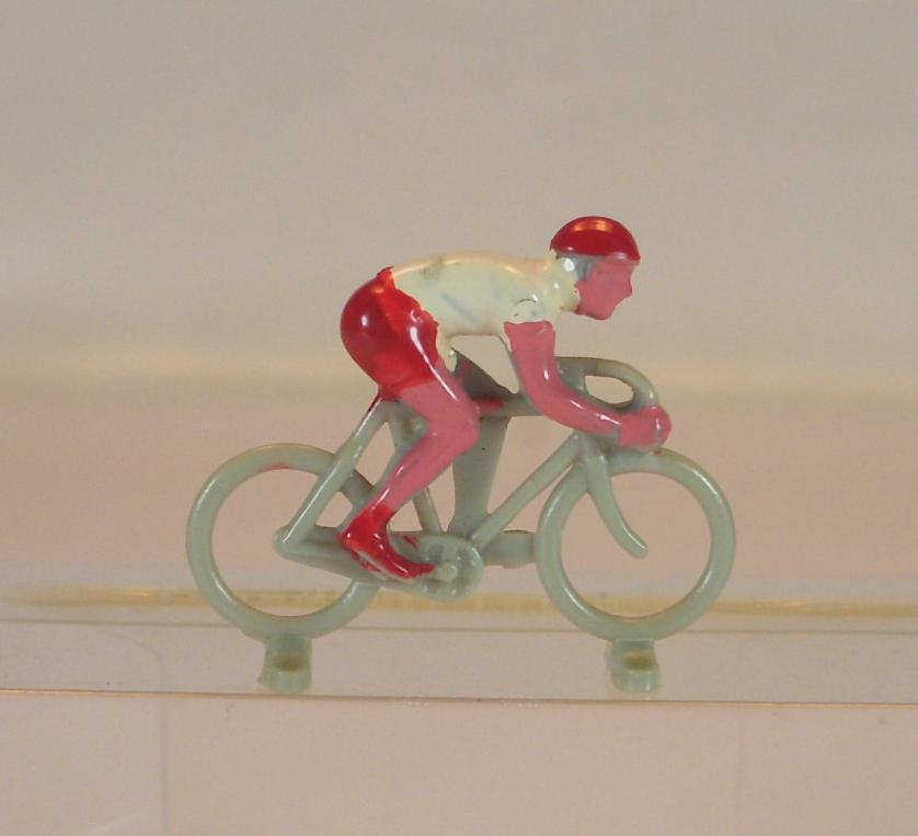 Lego alt 1 87 Fahrrad m.Fahrer neue Form 2.Vers. grey Fahrer redweiss 60 Jh.